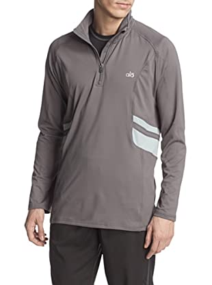 alo Men's Training Half-Zip Pullover (Granite/Ash)