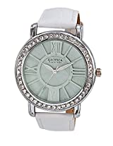 Exotica Fashions White Leather Analog Women Watch - EF-70