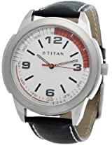 Titan Octane Analog White Dial Men's Watch - NE1585SL01
