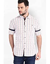Checked White Casual Shirt