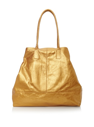 Latico Women's Baker Tucked-In Tote (Metallic Gold)