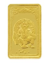 TBZ - The Original 20 gm, 24k(999) Yellow Gold Ganesh Precious Coin
