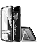 iPhone 6S Plus Case, OBLIQ [Naked Shield][Black][Metal Kickstand] Thin Slim Fit Crystal Clear Case + TPU Bumper Armor Scratch Resist Protection for Apple iPhone 6S Plus (2015) & iPhone 6 Plus (2014)