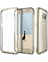 Galaxy S7 Case, Caseology® [Skyfall Series] Scratch-Resistant Clear Back Cover [Gold] [Shock Absorbent] for Samsung Galaxy S7 (2016) - Gold