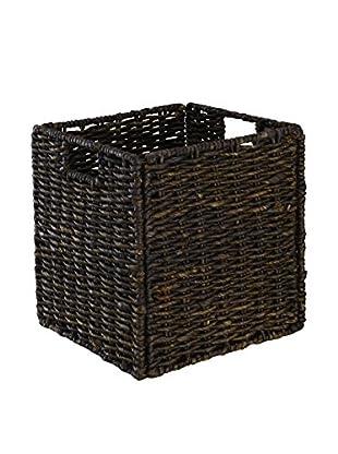 Organize It All Single KD Maize Rope Basket, Dark Brown