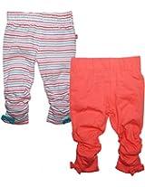 FS Mini Klub Baby Girls Cotton Leggings - Pack of 2 (0-3 Months)
