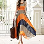 Rc Bohemian Stripes Maxi Dress RCCWW123005
