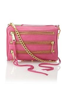 Rebecca Minkoff Women's Carmen Mini Zip Shoulder Bag, Fuchsia