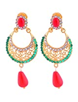 Smart Deal Jewellers Gold-Plated Dangle & Drop Earring For Women (Gold )