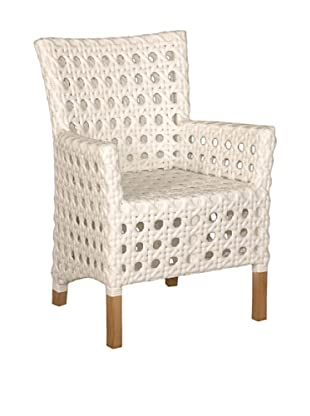 Jeffan Outdoor Derby Arm Chair, White