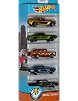 Hot Wheels 2016 Muscle Mania, Multi Color (Pack of 5)