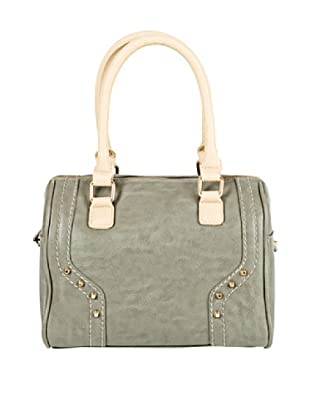 Cortefiel Bolso Bowling Tachas (Gris Oscuro)