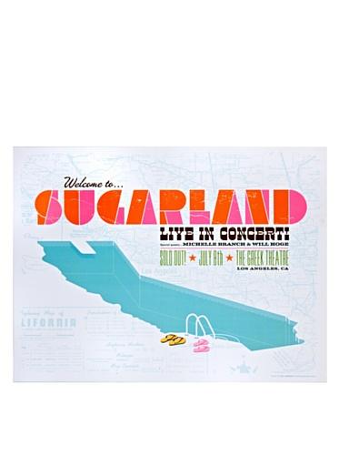 La La Land Posters Sugarland at the Greek Theatre