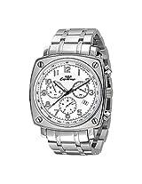 Luxury Ronda Quartz Chronograph Stainless Steel Band Mens Watch