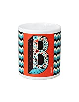 Chumbak Alphabet B Coffee Mug, 300ml