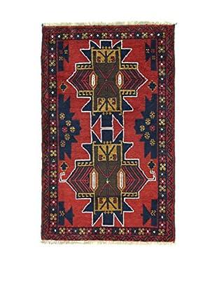 Eden Teppich Beluchistan rot/blau 94 x 145 cm