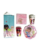 Doc Mc Stuffins Party Bundle Birthday Plates Napkins Table Cloth Cups Plastic Cup