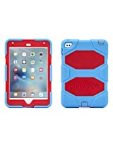 iPad mini 4 Case with Stand, Blue and Red Survivor All-Terrain, [Rugged] [Protective] [Dual Layer] [Heavy Duty] [Shock Absorption] [Polycarbonate] [Silicone]
