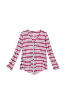 Erge Girl's 7-16 Delta Grandpa Cardigan (Pink)
