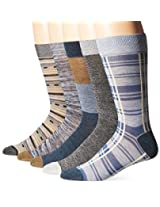 Lucky Men's Plaid Crew Socks Box Set, Denim Black, 10-13/6-12 (Pack of 5)