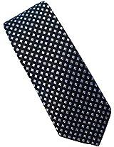 Michael Kors Geometric Patterned 100% Silk Men's Tie Black Blue