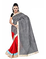 TrynGet's Black fancy Georgette Saree