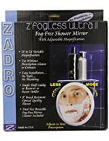 Zadro 5x Z Fogless Ultra II Shower Mirror and Dual Top Tray Accessory Holder, 9.5-Inch