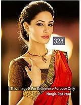 Nargis Fakhri Red Bollywood Saree