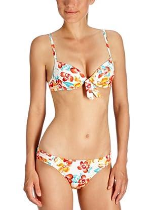 ESPRIT Bodywear Damen Bikini, geblümt Z3985/DEL MONTE (Weiß (3))