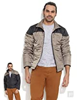 Reversible Wind Cheater-Beige-M