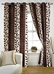 Story @ Home Nature Designer Eyelet Window Curtain (Brown) Set of 2