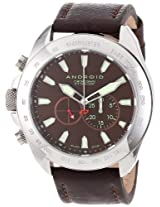 Android Unisex Ad647Abn Velocity Analog Swiss-Quartz Brown Watch - Ad647Abn