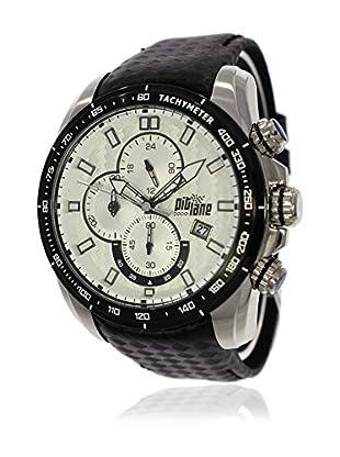 Pit Lane Uhr mit Miyota Uhrwerk Pl-1006-2 schwarz 46 mm