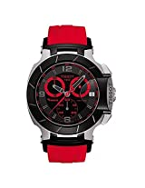 Tissot Men's T0484172705702 T-Race Quartz Red Strap Chronograph Dial Watch