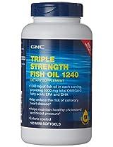 GNC Triple Strength Fish Oil 1240 - 180 Mini Softgel
