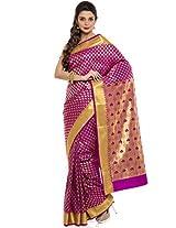 BANGALORE DUPIAN AND FLORAL SILK SAREE COLLECTIONS-Purple-MUS1545-VN-Art Silk Silk-Purple-MUS1545-VN-Art Silk Silk