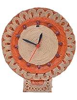 RONGGHAR Jute Table Clock (18 cm x 18 cm x 20 cm)