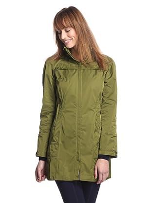 Rainforest Outerwear Women's Packable Travel Raincoat (Asparagus)