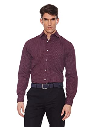 Hackett Camisa Estampada (Granate)