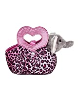 Aurora World Fancy Pals Plush Toy Pet Carrier, Elephant Jungle Love