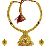 Gold Gold Plated Alloy Traditional Jewellery Set