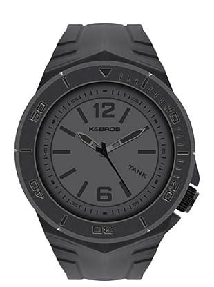 K&BROS 9566-2 / Reloj de Caballero  con correa de caucho Gris