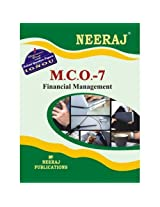 MCO7-Financial Management (IGNOU help book for MCO-7 in English Medium)