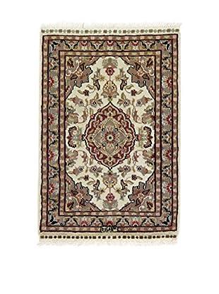 L'EDEN DEL TAPPETO Alfombra Kashmirian F/Seta Beige/Multicolor 60 x 88 cm