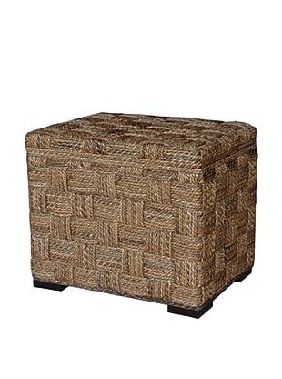 Jeffan Square Weave Storage Ottoman, Natural