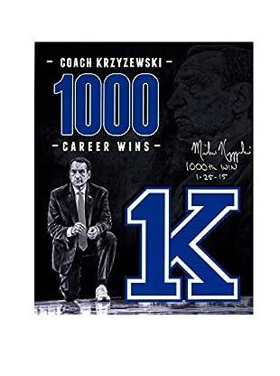 Steiner Sports Memorabilia Mike Krzyzewski Signed 1000 Career Wins Tribute Photo, 20