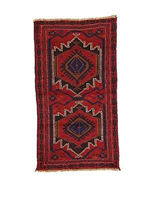 L'EDEN DEL TAPPETO Alfombra Beluchistan Rojo/Multicolor 78 x 140 cm