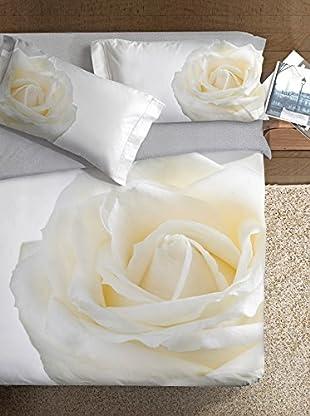 Ipersan Bettbezug Parure Copripiumino Fotografico Piazzato Fine Art Disegno Rosa