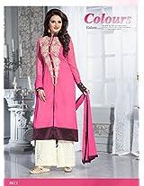 VandV Monica Bedi Pink Palazzp Style Salwar Kameez