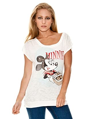 Springfield Camiseta Minnie Tocadiscos (blanco)